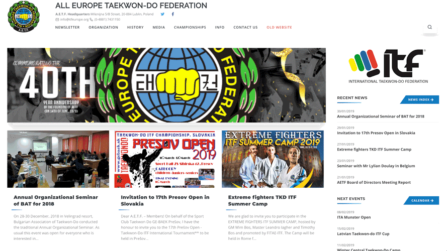 New Layout of the AETF Website thumbnail